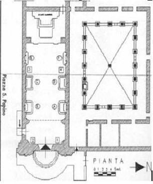 Pianta della chiesa di San Papino, Milazzo